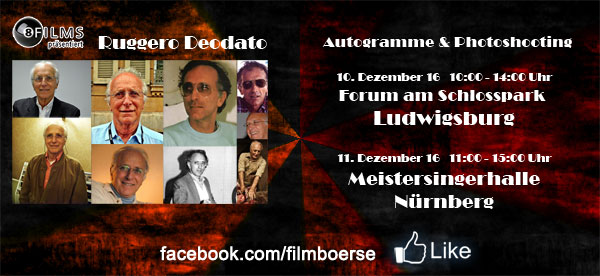 Ruggero Deodato kommt im Dezember nach Nürnberg und Ludwigsburg.